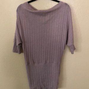 Blush pink off the Shoulder Sweater dress